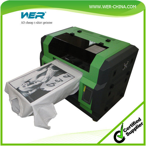 Cheap a3 t shirt wer e2000t printing machine t shirt for Cheapest t shirt printing machine