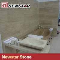 Newstar Good Quality Polished Bathroom Marble Surround for Bath Tub
