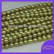 Good luster green pearl strings for beading AB041