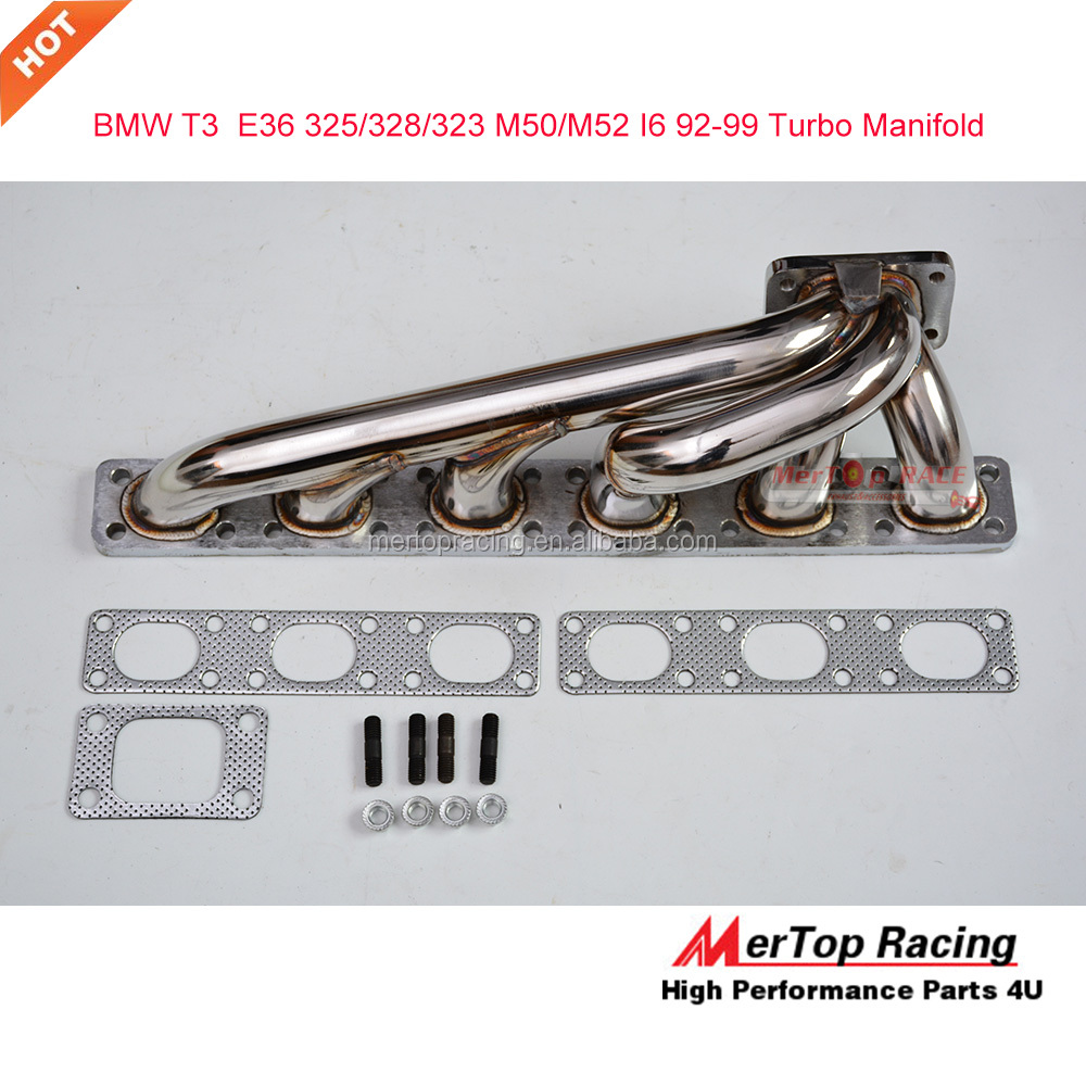 Mertop B** E36 3-SERIES 320i 325i 328i 323i 1992-1998 L6 <strong>Racing</strong> 14mm thick T3/T4 Turbo Manifold Exhaust