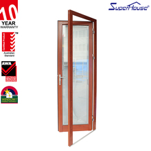 fire rated interior aluminium door high quality pivot glass exit door for modular house