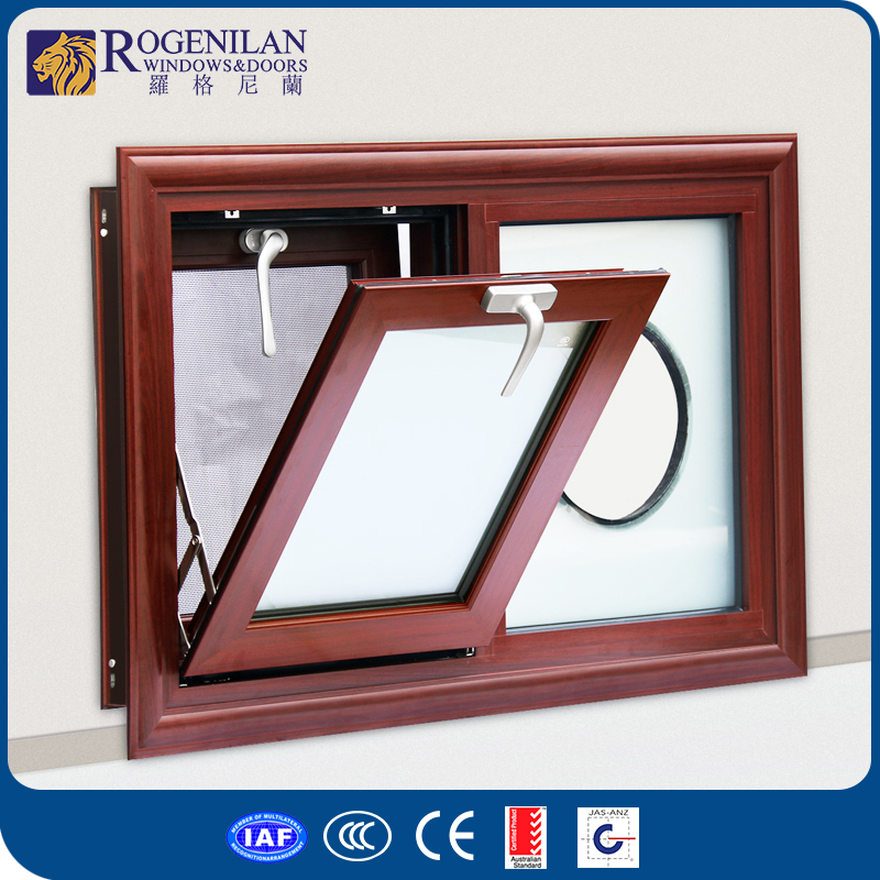 Rogenilan aluminum alloy frame double glazed bathroom window screens