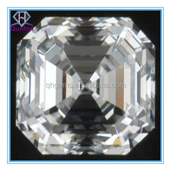 square shaped White cubic zircon stone