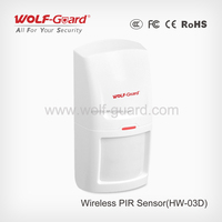 Smart GSM Wireless Alarm System 433mhz Battery Powered / Operated Wireless PIR Motion Sensor / PIR Detector