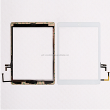 Best price for wholesale For iPad air Touch Digitizer with home button and 3M tape