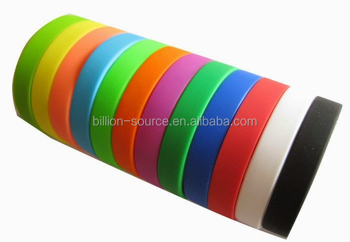 2015 cheap plain Silicone charity wristbands