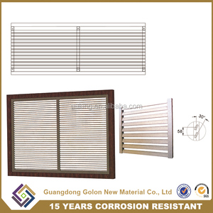 new design Europe exterior aluminum plantation window shutters matching bi-fold and slding window