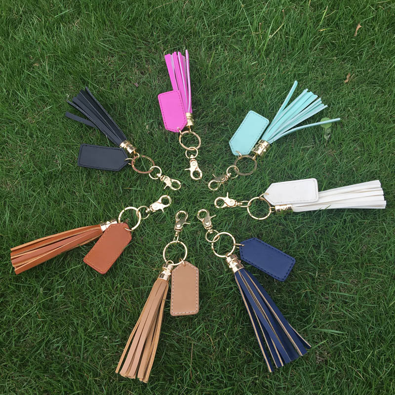 Wholesale Tassel Key Fob, PU + <strong>metal</strong>, Dom 104427