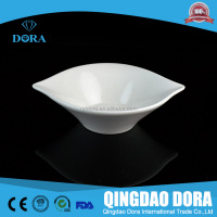 Thickening hotel white steamed fish plate personality egg-shaped plate imitation porcelain dinnerware heat-resistant fish plate