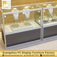 oem custom exhibition showcase glass jewelry showcase showroom furniture design jewellery shop counter design