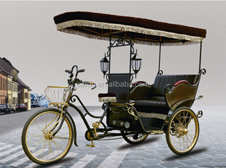 pedal assisted electric tricycle 3 wheel e-rickshaw with motor battery operated tricycle taxi with roof