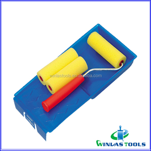 mini paint roller set paint roller with plastic tray
