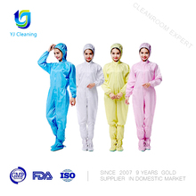 certifications approval high quality cleanroom suit with hat factory