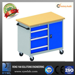 high quality mechanical work bench with wooden top
