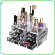 Clear plastic makeup organizer and many styles cosmetic storage boxes