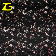 Keqiao textile wholesale market 100 polyester woven digital printing animal gorilla print fabric satin
