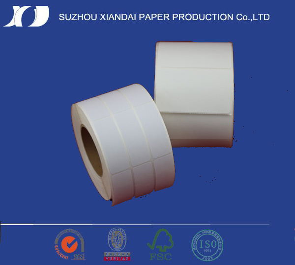 direct transfer thermal paper with labels per roll permanent adhesive