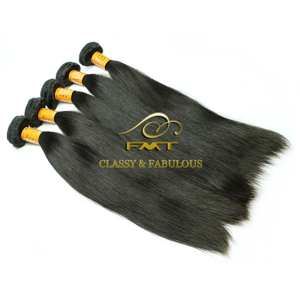 FMT Lovely Luxury 9A Silky Straight Wave Human Hair Weaving 100% Unprocessed Peruvian Virgin Hair