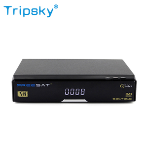 Best Price Satellite Receiver Dvb S2 T2 Cable DVB HD Tv Box Support table Openbox V8 Golden