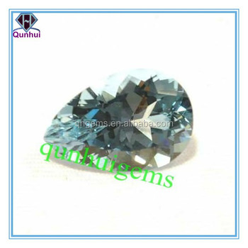 lovely white pear shaped beautiful cubic zircon stone