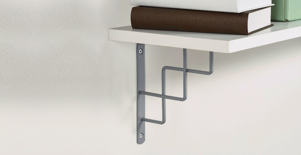 Removable shelf bracket wall hanger