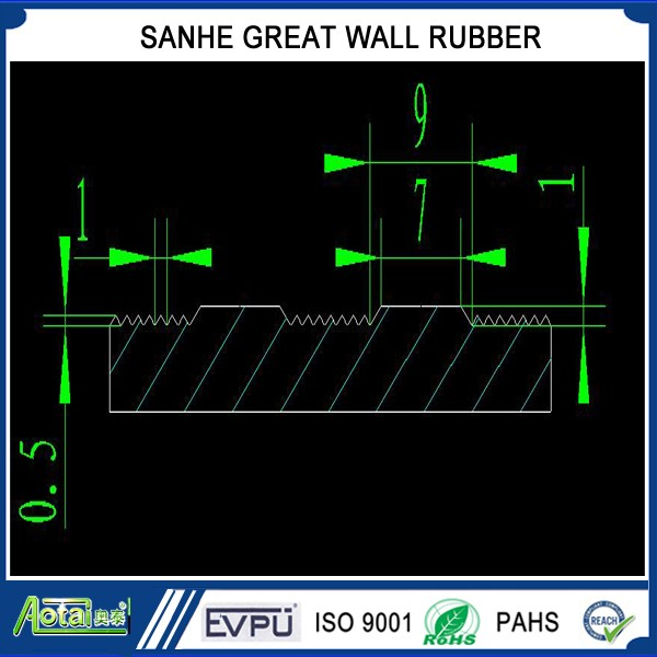 America ribbed/Composite ribbed rubber sheet/mat/floor roll