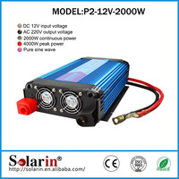 2000w battery 12v inverter for solar system 2KW home solar energy system use