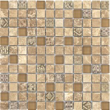 Nature Stone and Glass Mosaic Tile Square