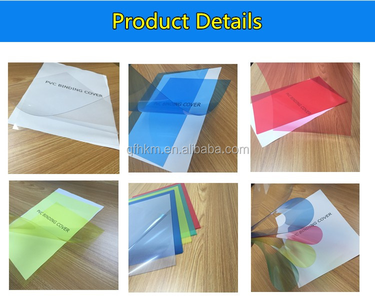 A4 A3 PVC Binding Cover, PET Binding Cover, Plastic Binding Sheets