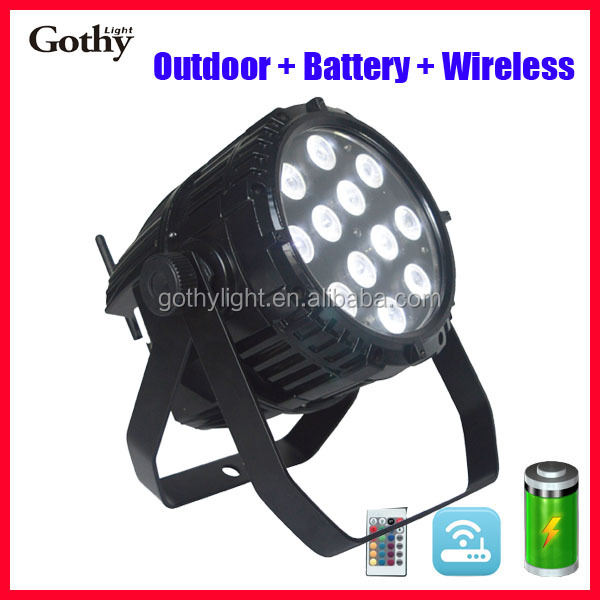 wireless battery power 6in1 rgbwauv 12x15w led par light
