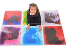 Colorful kids floor mats liquid floor tiles 300*300mm with dramatic visual effect