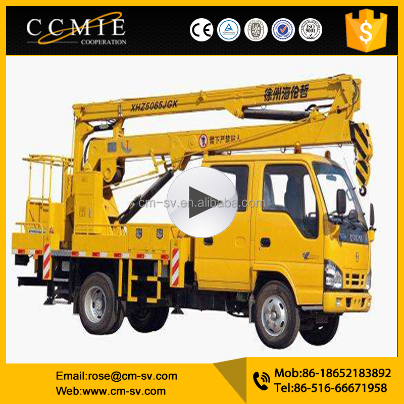 Manufacturer Supplier 14m XHZ5065JGK truck mounted Aerial Work Platform with <strong>price</strong>