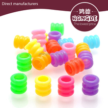 Large spiral hole loose plastic beads children Diy solid color alibaba beads