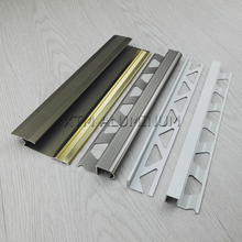 High quality 2.5m matt finish colour flooring edge metal curved shape aluminum tile trim for home decoration use