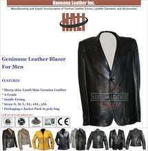 OEM black leather Leather Dress Blazer | Black blazer leather jacket for men 100% pure Lambskin