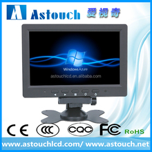car lcd monitor 7 inches hdmi monitor with battery, VGA/HDMI/AV1/AV2