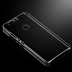 High Clear Transparent Crystal PC Hard Back Cover Case For Huawei Honor V8