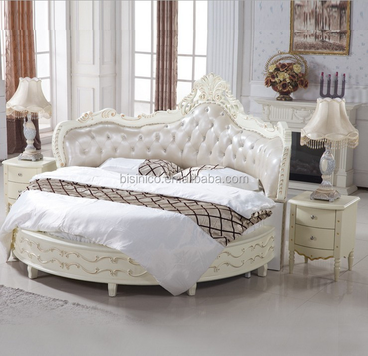 Luxury Wooden Round Bed Wood Double White Round Bed Buy