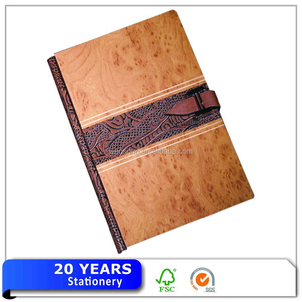 Custom Wood Cover A5 Notebook Popular Wooden Notebook