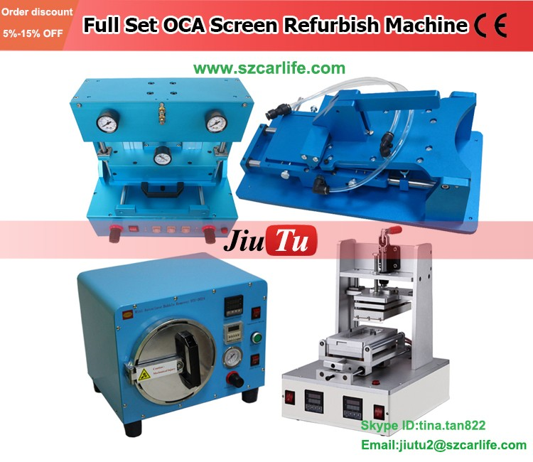 Full set LCD Screen Repair Refurbished Kit LCD Separator +Glue Remover + Film Laminating machine+ OCA Bubble Remover