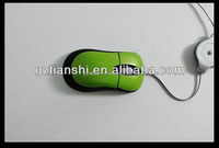 2016 best wired optical mouse professional retractable wire cable 2.4G Foldable Mouse