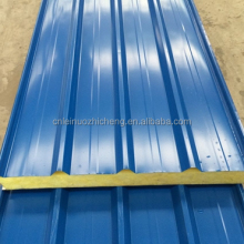 Roof sandwich panel / metal facing / insulating mineral wool core / incombustible