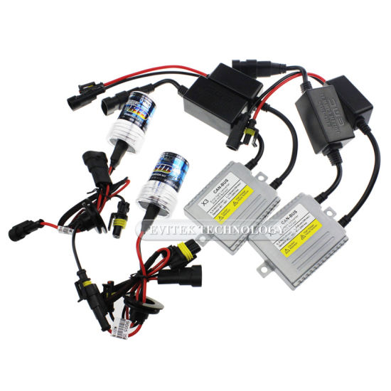 Factory Super Bright 35W HID Xenon Slim Ballast Kit with Canbus H4 H7 9005 Bi-Xenon Kit
