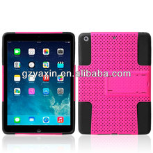 Shell case for ipad air,new arrival hybrid stand hard pc case with covers for ipad