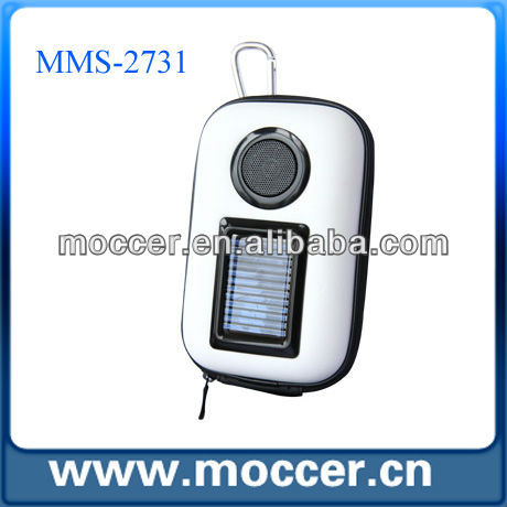 Out door cheap solar mp3 speaker mobile phone solar charger