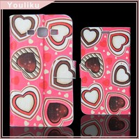 Bling Phone Case Cover For samsung with shining glitter, leather printing cover