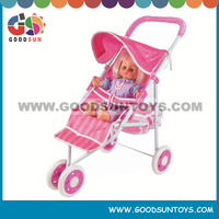 Popular adjustable handle doll stroller with baby doll for sale