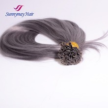 Sunnymay Wholesale u tip hair full cuticle hight quality keratin u tip hair/flat tip/i tip hair extensions