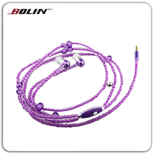 Fashional Gift Jewelry Pearl Necklace In-ear Stereo Earphones