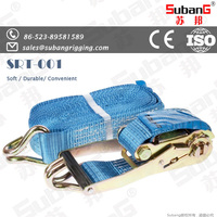 lashing woven 50mm steel ratchet tie down straps